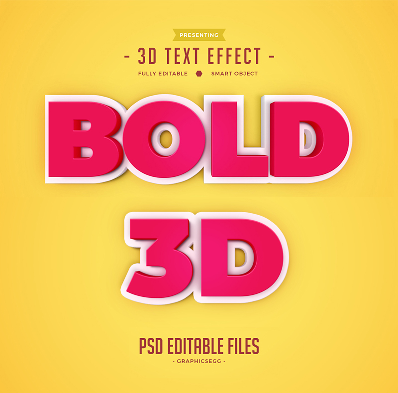 3d Text Effect Editable Psd File 3D Text Effect Editable PSD File