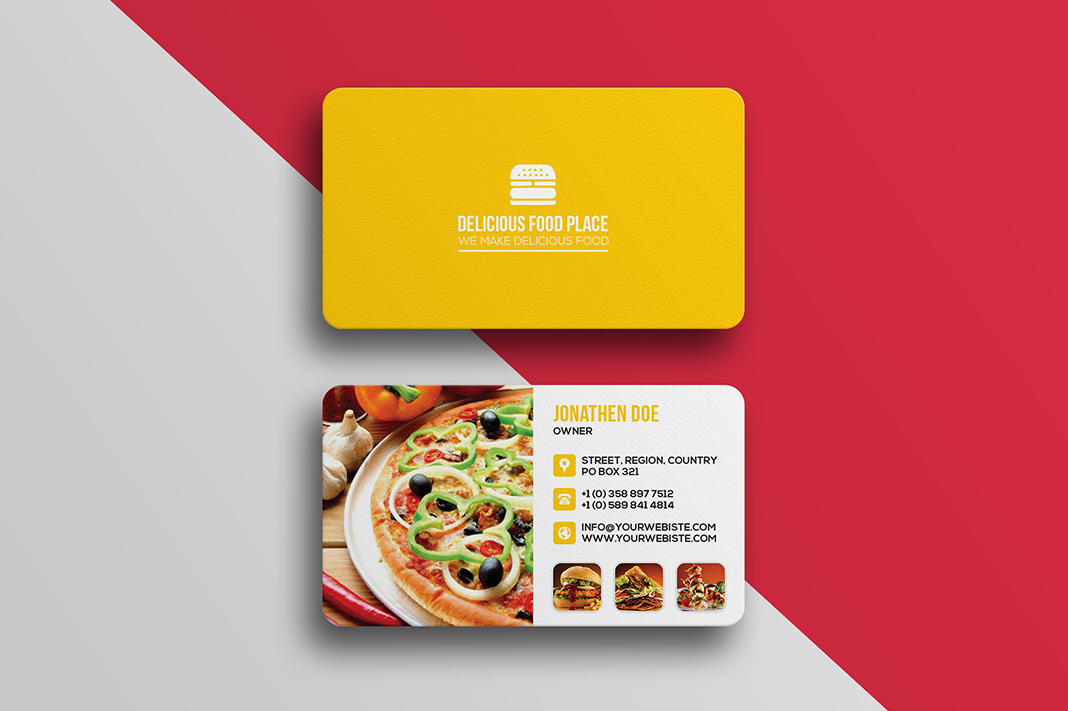 Delicious food business card template graphicsegg delicious food business card template cheaphphosting