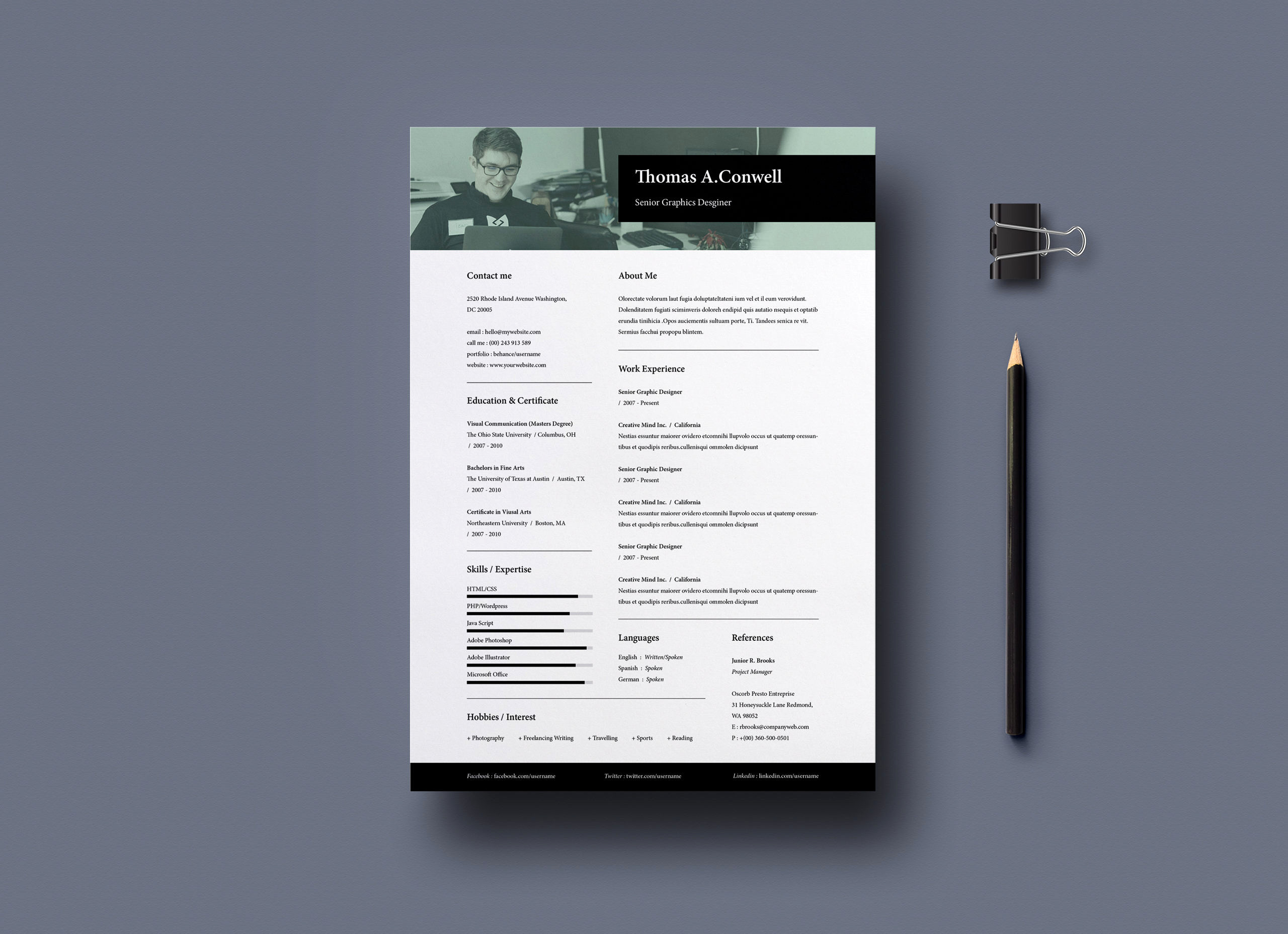 Resume Template Vol 10 Free Graphicsegg